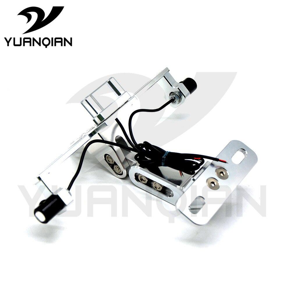 Soporte de matrícula de motocicleta CNC Universal soporte de marco para matrícula de aluminio con luz para DUCATI Street Fighter 696 796