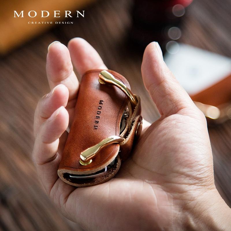 Modern - Brand New Genuine Leather Smart Key Wallet DIY Keychain EDC Pocket Car Key Holder Key Organ