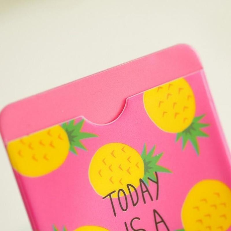 1x frutas frescas Cactus animales de doble capa titular de la nota de la tarjeta autobús de negocios de la cubierta de crédito caso billetera