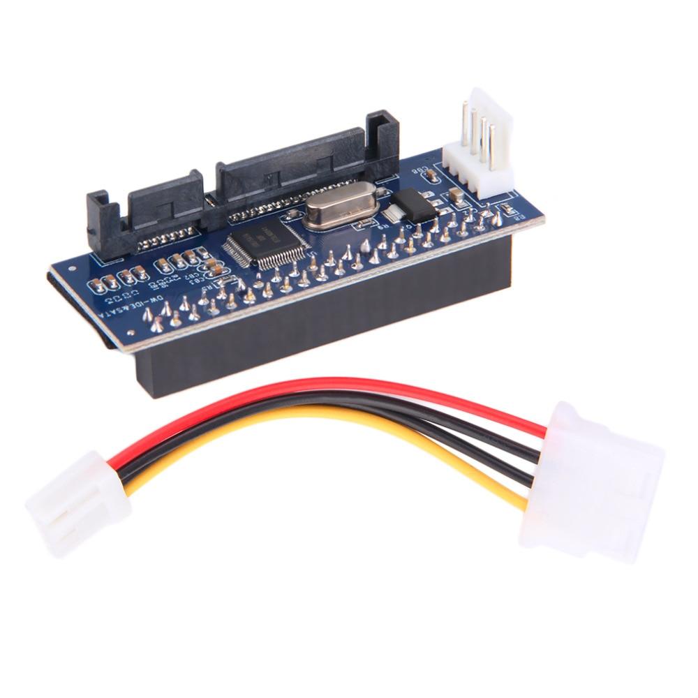 40-Pin IDE Female To SATA 7 + 15Pin 22-Pin Male Adapter PATA TO SATA Card Прямая поставка