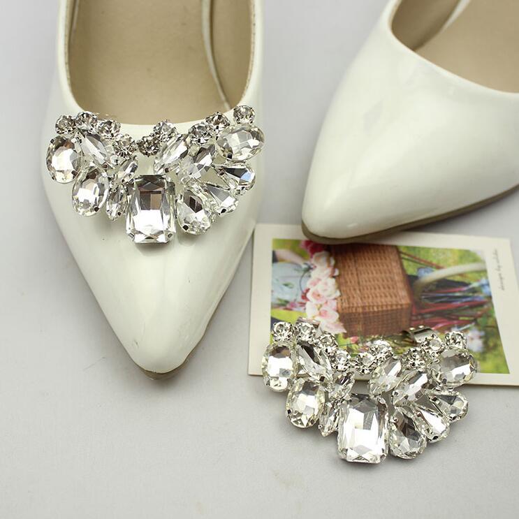 Clips de zapatos de boda extraíbles para mujer, bonitos zapatos decorativos, accesorios, clip de zapatos, diamantes de imitación de cristal