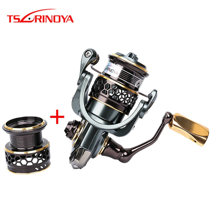 Carrete de pesca giratorio TSURINOYA Jaguar 1000-5000 tamaño 5,2 1 10BB y carrete de repuesto carretes de pesca Moulinet Peche carrete de carpa Hot Wheels