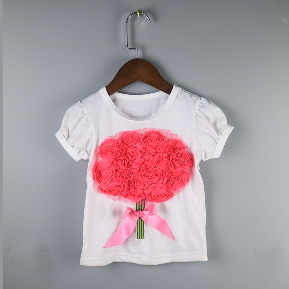 random styles ship children girl summer T-shirts children wholesale ruffle summer tees fashion shirts dress