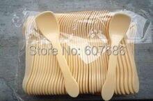 Cuillère glaces glaces yaourt glaces   Cuillère en plastique 2000 pièces cuillères de service de dégustation, couverts jetables, livraison gratuite rapide