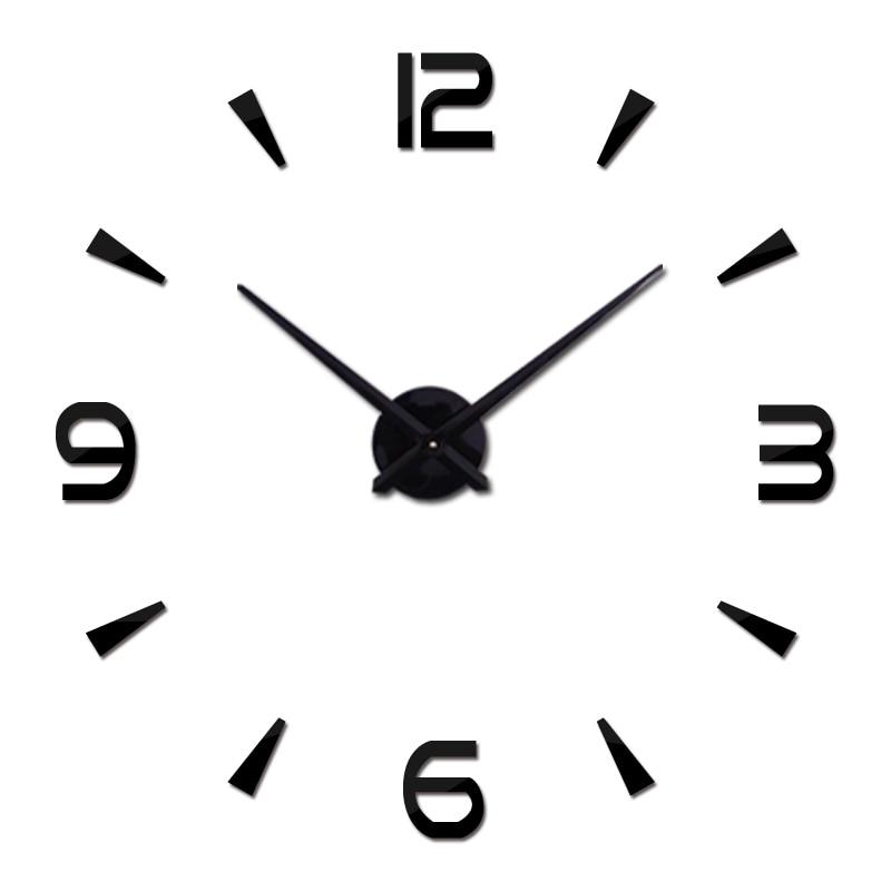 Brief Fashion Wall Clock For Living Room Design Acrylic Mirror Clocks Europe Diy 3d Stickers Large Decorative Quartz Watch