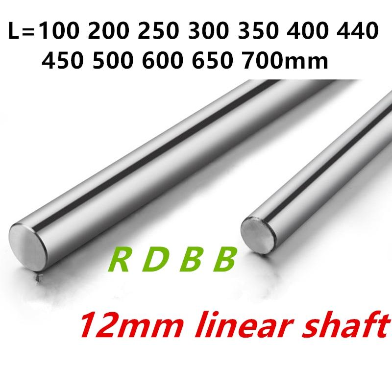 12mm linear welle 100 150 200 250 300 350 400 450 500 550 600 700 800 mm Verchromt Verhärten rod Linear Motion Welle