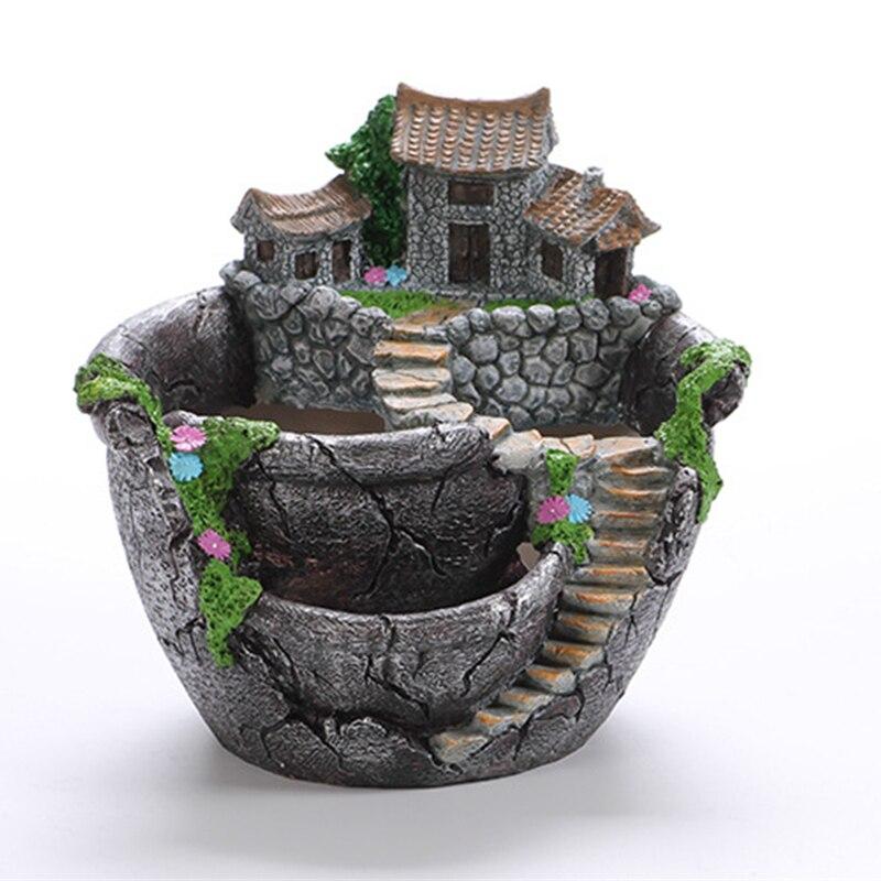 Vaso de flores de design criativo, estilo desenho animado, para mesa, suculentas, casa, bonsai