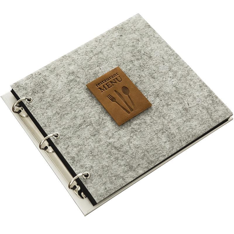 Álbum de recortes hecho a mano de arpillera Retro, menú de café multiusos, Kit de recetas, álbum de recortes, álbum de hojas sueltas de boda
