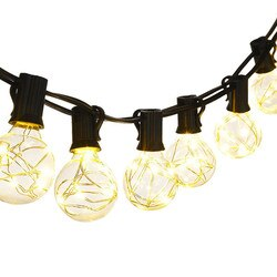 G40 girlande 25 lampen e12 basis warmes weiß lampe licht string Chirstmas Hochzeit Party Decor Fee Lampe UNS, EU Stecker