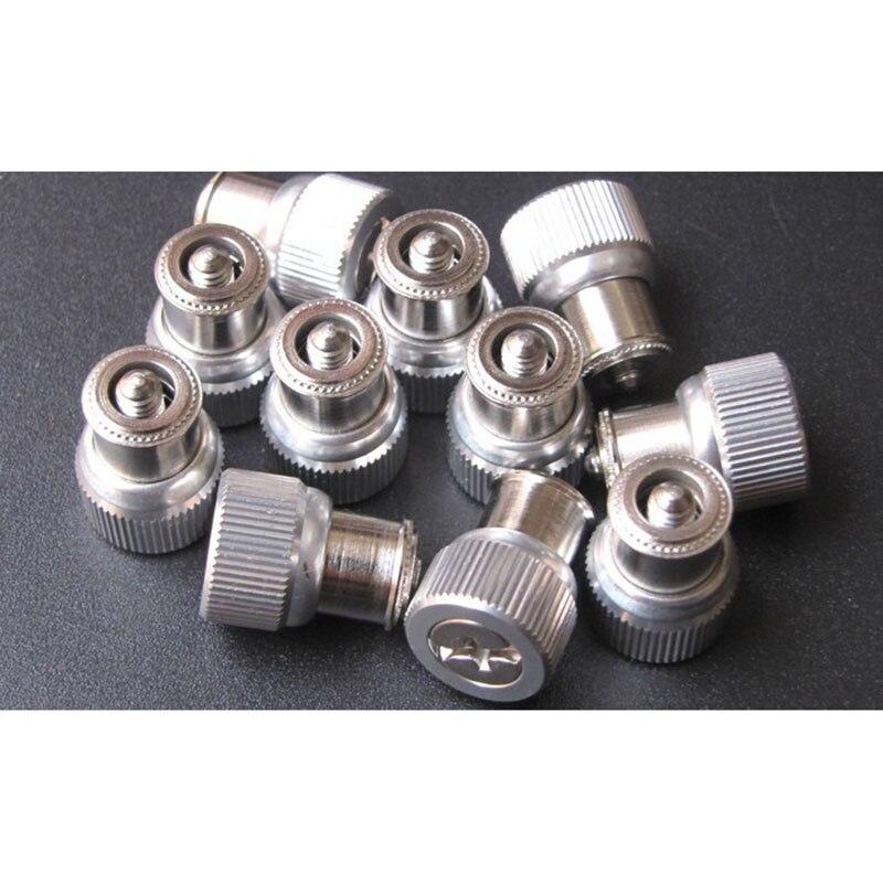 10 teile/los M4X0/1/2 M5X1/2/4 M6X0/2 aluminium phillips frühling niet schraube carbinet bord hand daumen schraube verschlüsse hardware 934