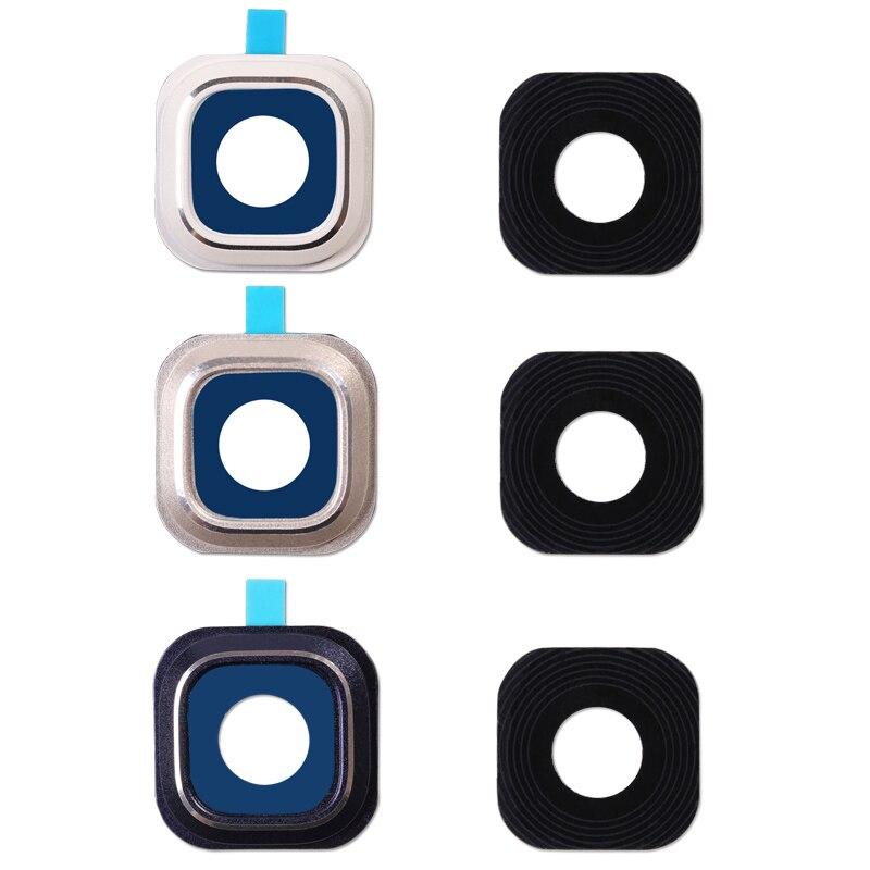 Nota 5 tapa de lente de vidrio de círculo + adhesivo para Samsung Galaxy Note 5 Note5 N920 N920F cámara de vidrio de la lente