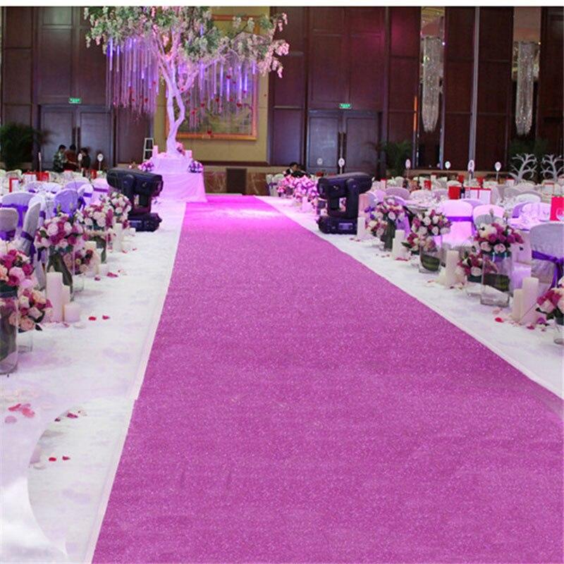 سجادة للممر الأحمر 150 سم × 10 م ، سجادة لحفل الزفاف ، مأدبة ، لون ذهبي ، فضي ، وردي ، أحمر