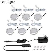3/6 pièces LED sous armoire lumière 12V 2.5W cuisine placard veilleuses maison armoire comptoir meubles étagère lampe avec interrupteur