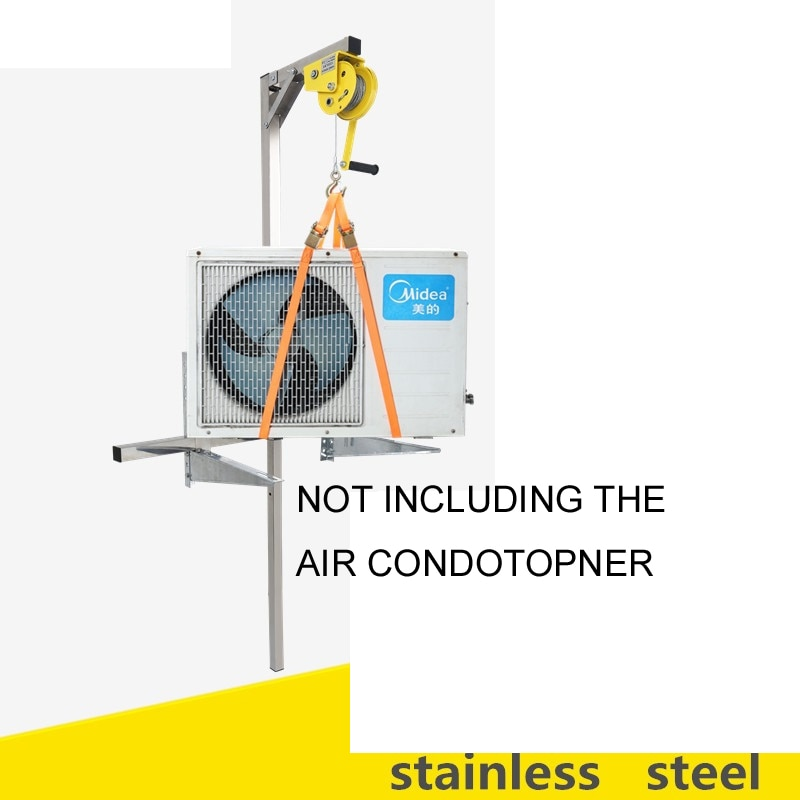 Manual Stainless steel, outside installation lifting tool, crane, folding, self-locking manual winch assembly air conditioner