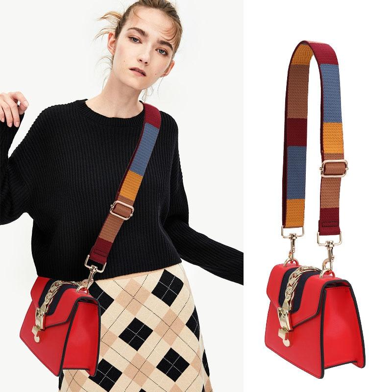 Регулируемая женская сумка, винтажный клетчатый холщовый ремень, сумка через плечо, аксессуары для ремней KZ151366