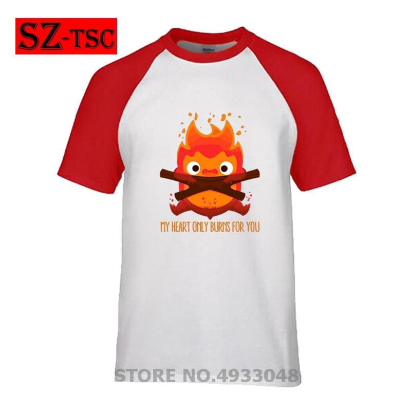 Verano Mirakuru energía camiseta hombres negro ropa Japón Kanji Tops máscara camiseta el demonio del fuego camiseta algodón camisetas