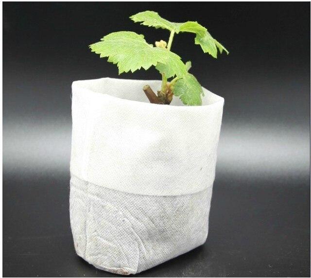 200 pcs plant-fiber  Nursery Pots Seedling-raising bags Garden Supplies Can degrade  Environmental protection   Size 8*10cm