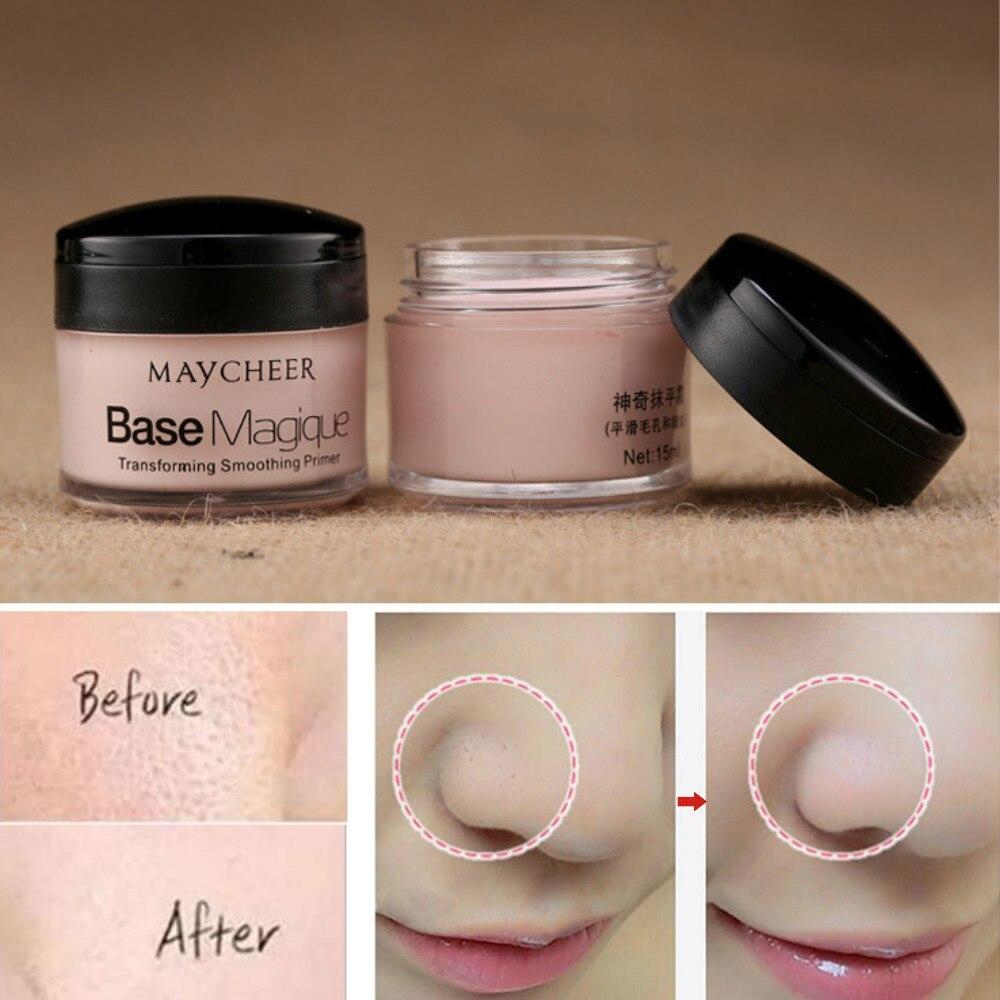 Imprimación de maquillaje Maycheer corrector duradero Control de aceite cubierta poro arrugas corrector de cara Base cosmética Base de maquillaje efecto increíble