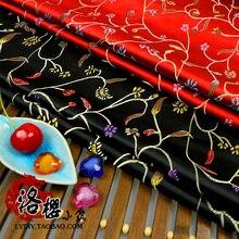 Robe avec Filaments ancien costume hanfu   Vêtements de poupée, kimono brocade tissu COS vêtements fleurs de poivre/100*145cm