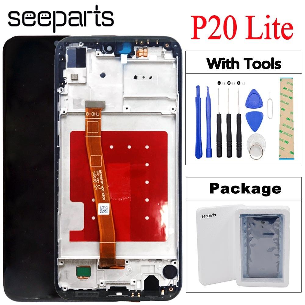 Para huawei p20 lite ANE-LX1 ANE-LX2 display lcd + tela de toque digitador assembléia substituição nova 3e ANE-LX3 tela lcd