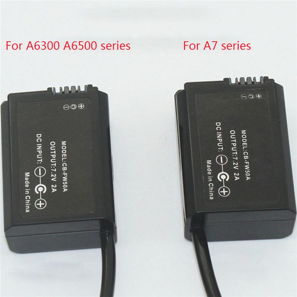 Für DJI Ronin-S zu für Sony A6300 A6500 NP-FW50 Batterie Versorgung Power Faux Batterie Adapter Kabel Konverter DC 7,2 V FW50 Koppler