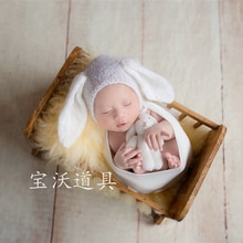 Newborn Teddy Bunny and Hat Set Knit Mohair Stuffer Animal Bunny Bonnet Easter Bunny Gift Newborn photography Props