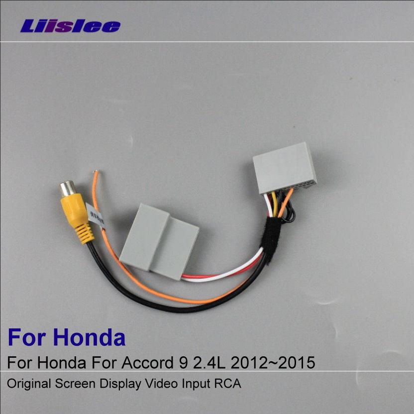Car Rear View Camera RCA Adapter Wire For Honda Accord 9 2.4L 2012~2015 Original RCA Connector Convertor Cable
