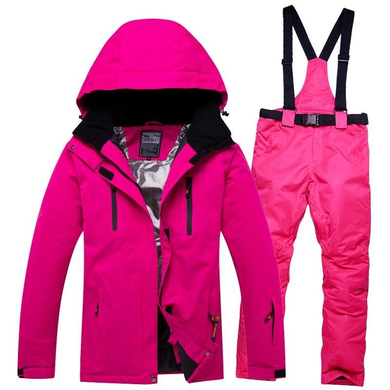 طقم تزلج حراري للرجال والنساء, طقم تزلج حراري مقاوم للرياح والماء للرجال والنساء مناسب للتزلج على الجليد 2019