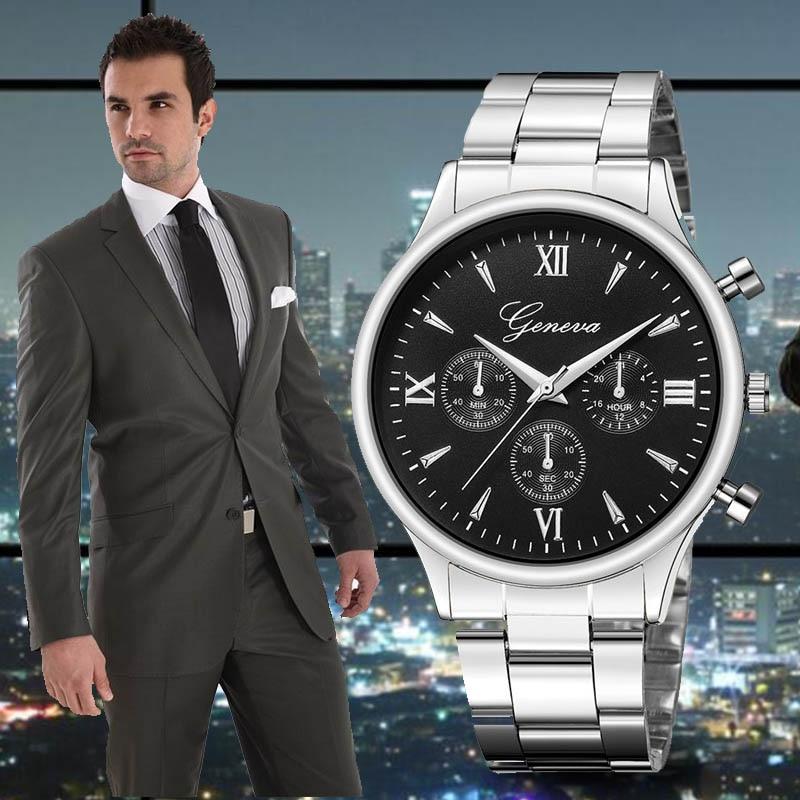 Reloj de cuarzo automático para hombre con fecha, reloj de pulsera de acero inoxidable de marca de lujo para hombre, reloj de pulsera deportivo para hombre