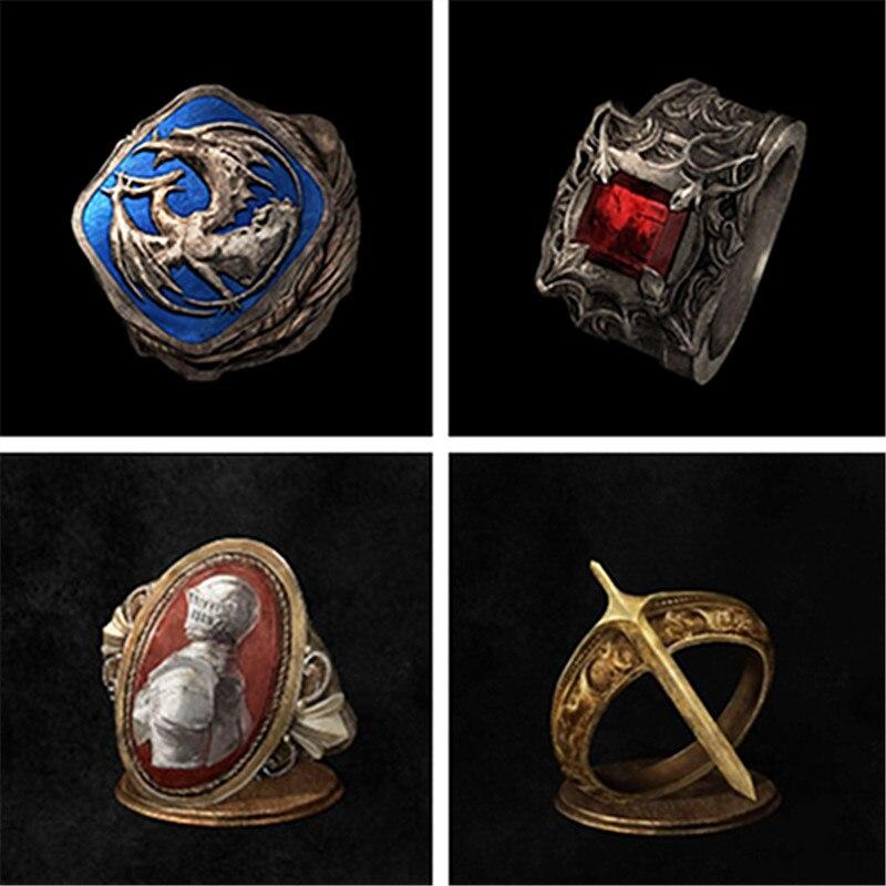 Juego dark Souls 3 lágrima anillo de cristal hombres mujeres joyería