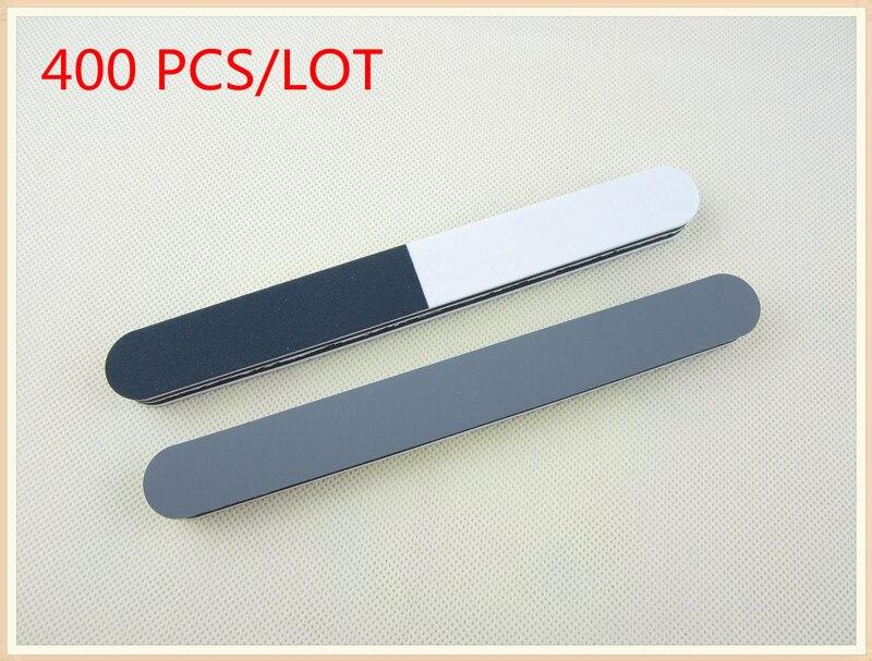 Venta al por mayor 200 unids/lote negro whte gris lima de uñas de 3 vías y amortiguador para arte de uñas al por mayor envío gratis
