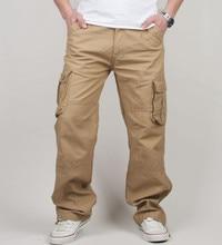 30-44 grande taille haute qualité hommes Cargo pantalon décontracté hommes pantalon Multi poche militaire tactique Long pleine longueur pantalon