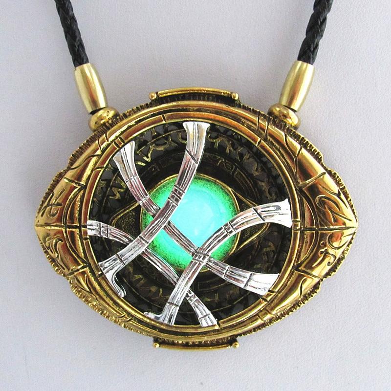 Ожерелье WANJIE SHIPIN, 71 мм * 58 мм, для коспдоктора, для Хэллоуина, рождественский подарок, светящееся ожерелье из сплава