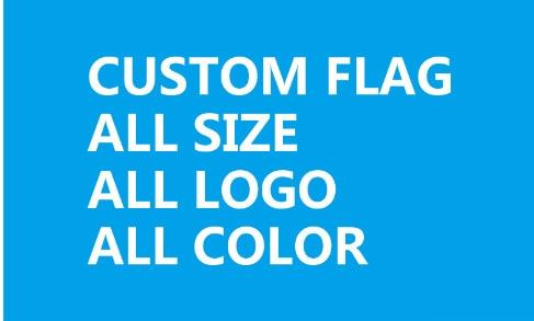 1x10ft bandera personalizada de un solo lado 30X300cm 100D poliéster todo el logotipo Bandera de todo color