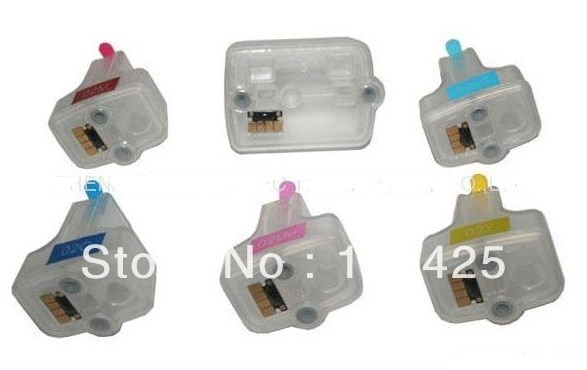 Cartucho de tinta recargable Compatible einkshop 02 con reemplazo de Chip para impresora hp 02 Photosmart 3110 3210 3310 C5180 C6150