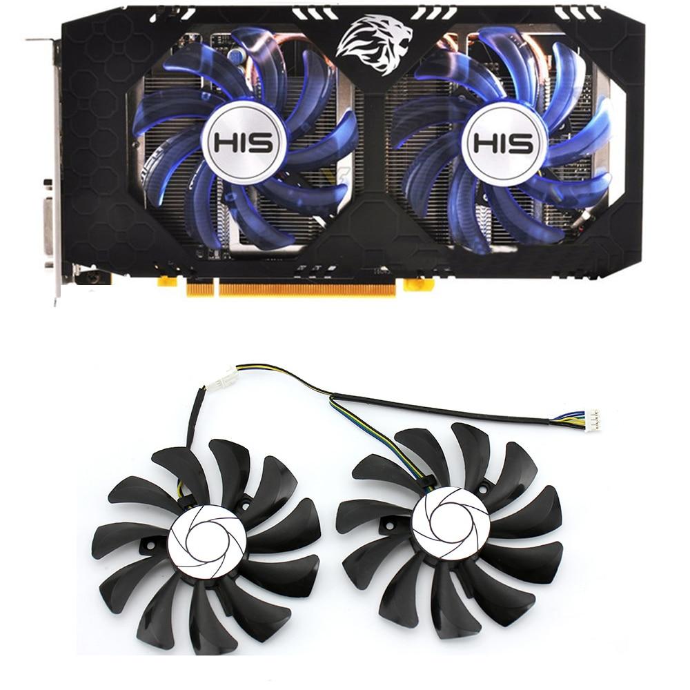 Diy 85mm HA9010H12F-Z 4pin para xfx rx 560d rx 570 rx 580 rx vega placa de vídeo gráfica pc ventiladores de refrigeração