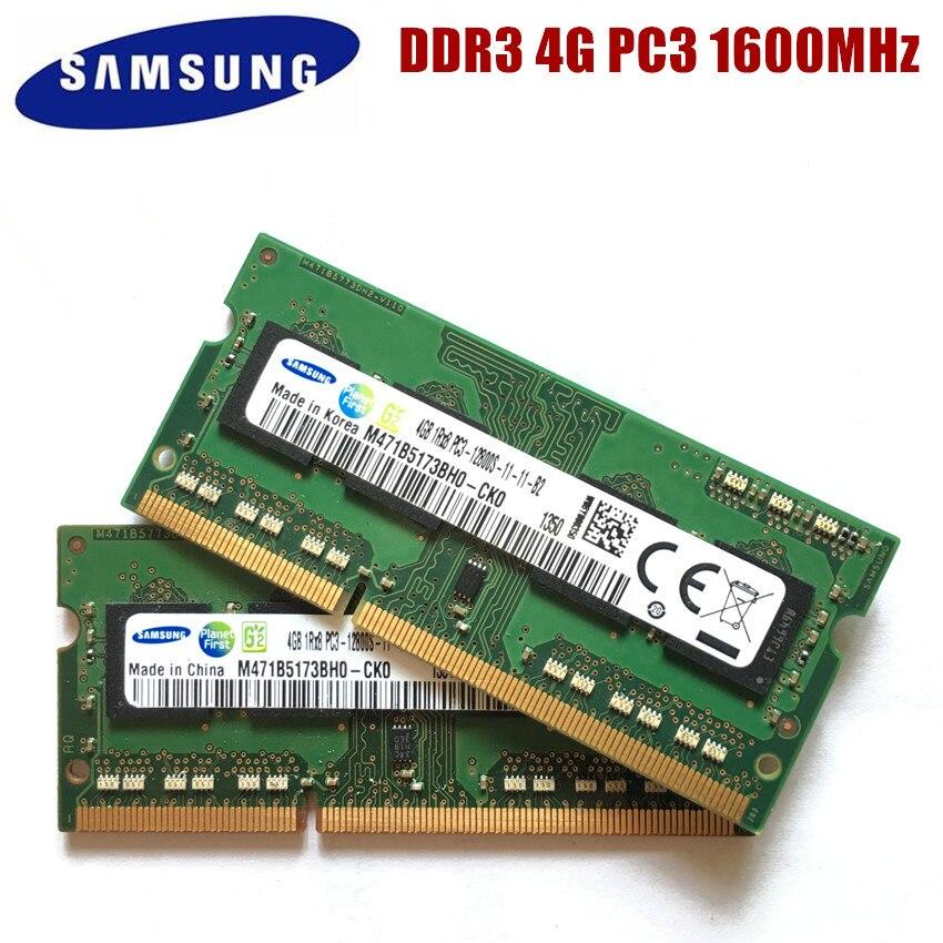 SAMSUNG 4G 1RX8 PC3 12800S DDR3 4GB 1600Mhz Laptop Memory 4G PC3 12800S 1600 MHZ Notebook Module SODIMM RAM