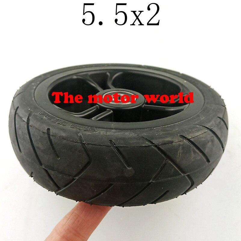 Neumático sólido de 5X2 ruedas de buena calidad Envío Gratis para Scooter de fibra de carbono gocart