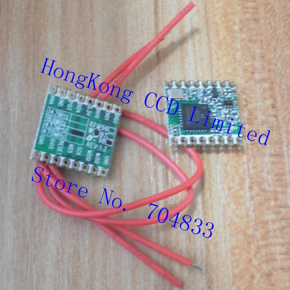 Envío gratis 2 unids/lote RFM98W 433Mhz módulos transceptores inalámbricos/extendido LoRa espectro de comunicaciones/433 M/SX1278/16*16mm