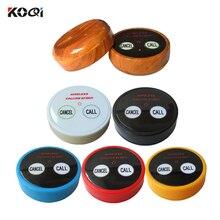 10 pièces KOQI limité système dappel sonore électronique émetteur sans fil équipement de Restaurant 2 clés Table appel cloche K-D2