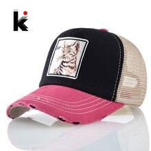 Chapeaux de Baseball unisexe super Cool   Casquette Hip Hop, Patch Cat, casquette de Baseball, femmes hommes respirant en maille camiker Gorras Hombre Drake Kpop Bones