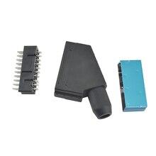 50 stuks veel Scart JP21 plug 21 pin male connector Sluit Poort Socket Interface Connector slot voor S-N-E-S AV kabel Interface