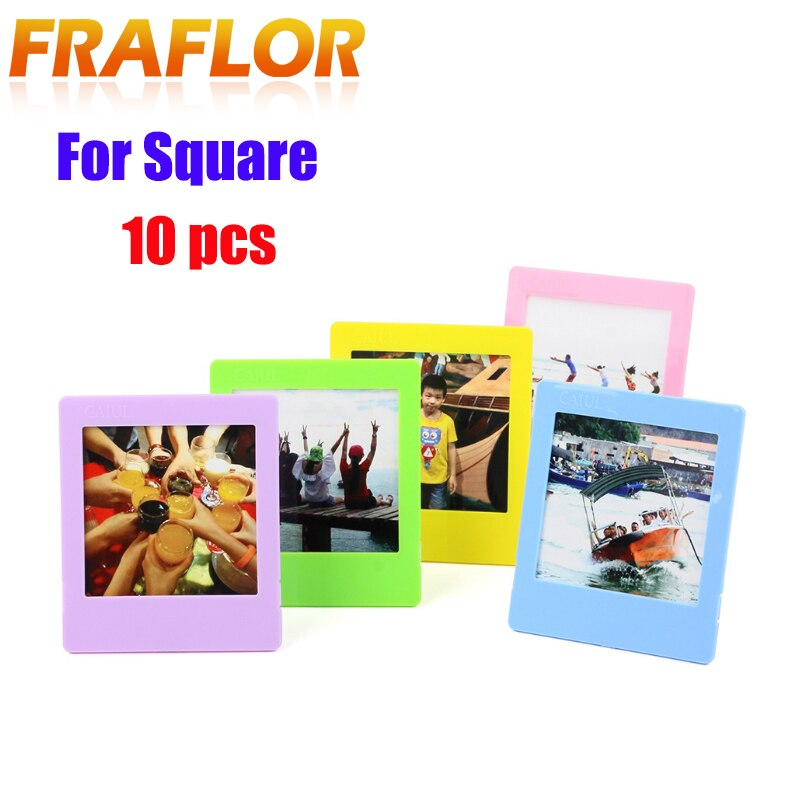 10pcs Camera Films Home Decor Colorful Desk Photo Borders Stand Photo Frame Set for Fujifilm Instax Square SQ10 SQ20 SQ6 SP3