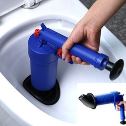 Poderoso de Alta Pressão Pistola de ar Blaster Dreno De Energia Manual Abridor de Afundar Êmbolo Bomba Cleaner Para Produtos de Banho Sanitários Do Banheiro