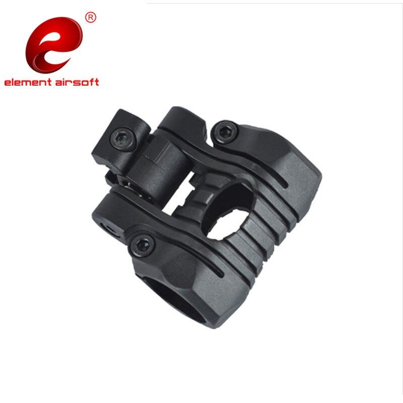 Montaje de luz táctico Element Airsoft 1 pulgada/25mm 5 posiciones para arma Picatinny 20mm montaje de riel ligero OT0424