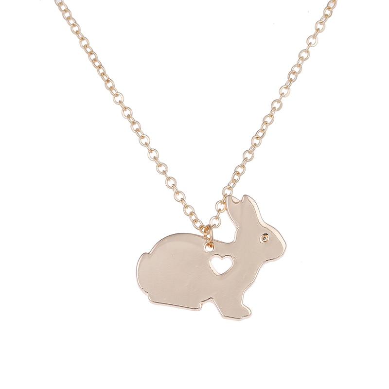 Conejo collar de la cesta de Pascua conejito mascota colgante encanto joyería de moda para Mujeres Hombres Regalos de Pascua