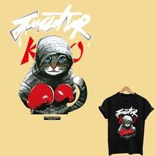 Cool cat patch transfert thermocollants t-shirt ijzer op patches ijzer-on transfers voor kleding strepen voor kleding toppe streep
