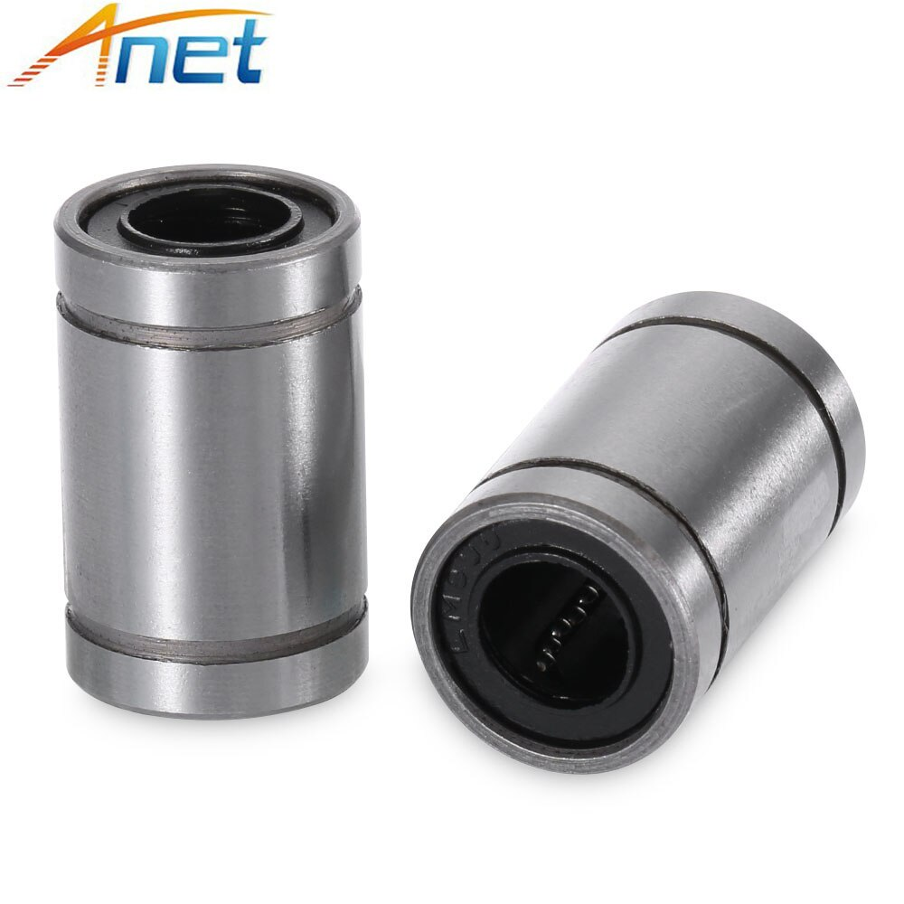 10pcs/lot Anet LM8UU Ball Bearings 8mm Bushing 3D Printers Parts Rail Linear Long Rod Shaft Part 8mm*15mm*24mm Aluminum Bush