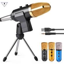 MK F100TL USB condensateur Microphone denregistrement sonore avec support Studio professionnel filaire Skype ordinateur Kareoke Microphone