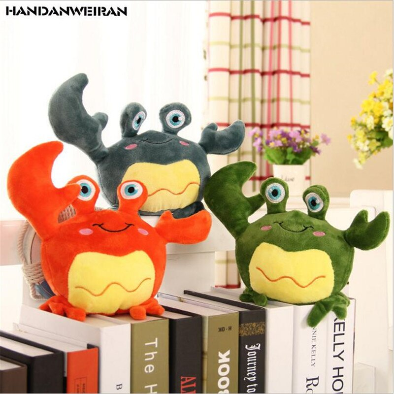 New 1PCS 18cm cute simulation crab doll Animal plush toys Little crab doll Ragdoll Children toy girlfriend gift Funny game toys new 1pcs 18cm cute simulation crab doll animal plush toys little crab doll ragdoll children toy girlfriend gift funny game toys